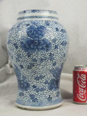 "Large 11"" Kangxi 1662 - 1722 Chinese Porcelain Blue White Lower Part Of Gu Vase"