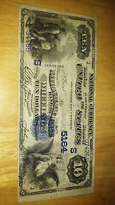 $10 DOLLAR BILL CONFEDERATE STATES CIVIL WAR CURRENCY Good Condition