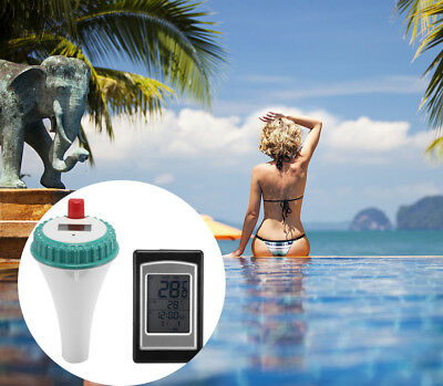 Wireless Floating Swimming Pool Spa Thermometer Water Temperature Meter Guage US