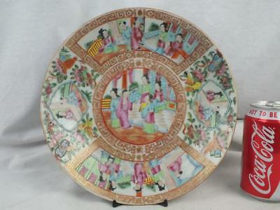 19Th C Chinese Porcelain Canton Famille Rose Charger Plate