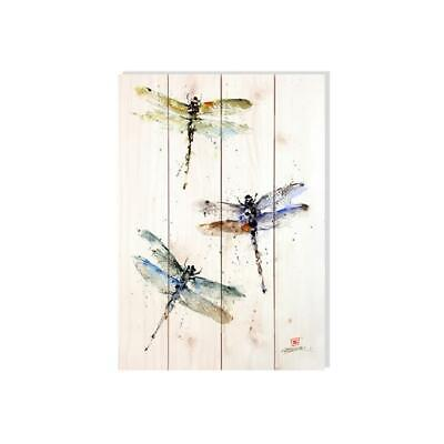 Day Dream DCTD1420 14 x 20 in. Three Dragonflies Wall Art