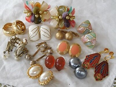 Lovely Mixed Collection of Vintage 1950s/60s CLIP ON EARRINGS
