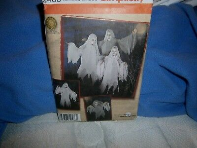 Halloween Costume Pattern  Simplicity 2486 Child Adult Ghost S/M & M/L
