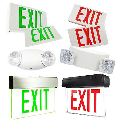 Indoor Emergency Exit Sign Light Fixtures LED Fire Lights With Battery Back up