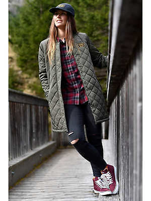 0b61df3be7afe VANS BOOM BOOM Quilted Jacket Coat Olive Green $110.00 L Military