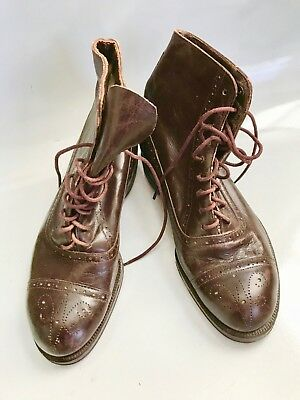 Vintage Antique Circa 1915 Childs Leather Boots Excellent Cond very little wear