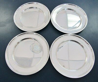 """Set Of 4 Manchester Sterling 6"""" Bread Plate Pattern# 333 - No Mono - Item# 7770"""