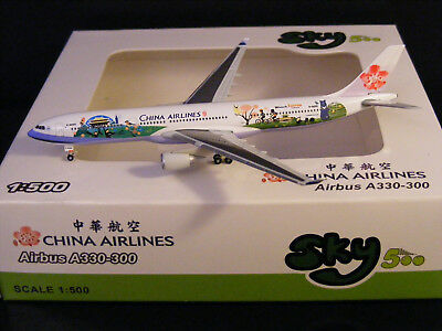 """China Airlines Airbus A330-300 """"Welcome to Taiwan"""" B-18355 Sky500 1:500 NG"""