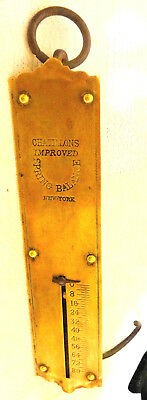 1800's Vintage Chatillon's Improved Balance Cotton Scale New York, N.Y.