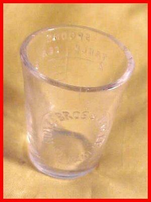 Old Noyes Bros & Cutler St Paul MN Minnesota Druggist Glass Dose Measuring Cup