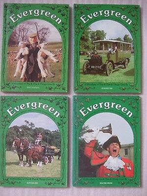 4 x EVERGREEN Magazines Inc 1st Edition - 1985 / 1986 Countryside Past Days +