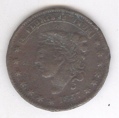 1837 Hard Times Token Millions for Defence Not One Cent for Tribute+ No Reserve!