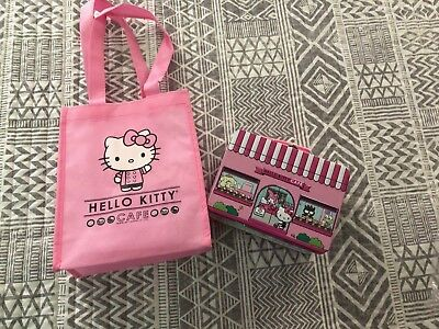 Exclusive Hello Kitty Cafe Lunchbox w/ Confetti Popcorn + Pin + Bag - SDCC 2018