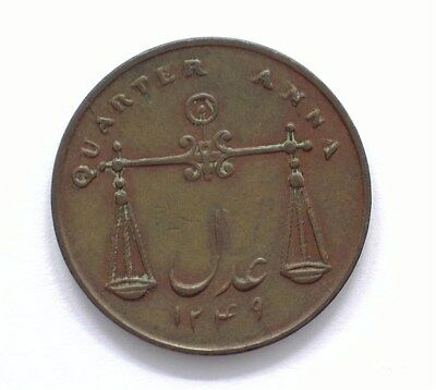 India 1833 1/4 Anna  Choice Almost Uncirculated