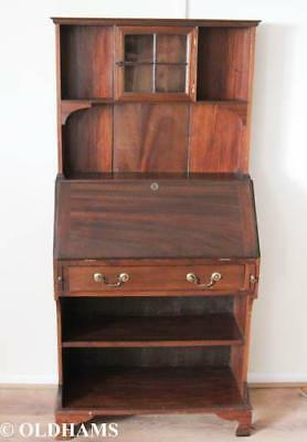 Superb Georgian Style Bureau Bookcase in Mahogany