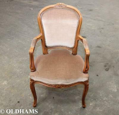 Lovely French Louis Style Bedroom Chair - Soft Velvet Seating