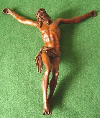 ANTIQUE CARVED WOODEN FIGURE OF CHRIST SUPERBLY CARVED CORPUS CHRISTI circa 1880