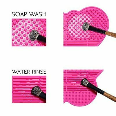Makeup Brush Cleaner Pad Washing Scrubber Board Cleaning Mat Hand Tool Uk