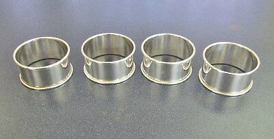 "Set Of 4 Reed & Barton Sterling Silver 1 3/4"" Napkin Rings- No Mono - Item# 7773"