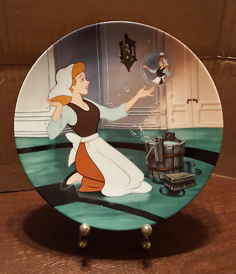 """Disney Cinderella Collector Plate """"Oh Sing Sweet Nightingale"""" by Knowles"""