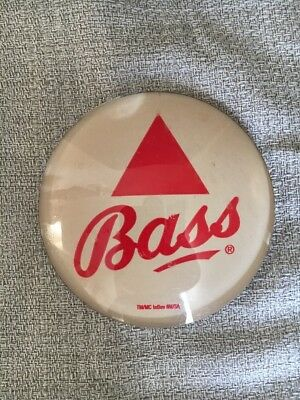 """Bass Medallion Badge 3"""" Beer Tap Faucet Tower Advertisement New"""