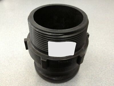 """Cam Action Coupler, 4""""f Male Adapter X 4"""" Male Threads, P#62794 Norwesco Camlock"""