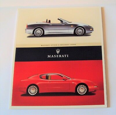 ORIGINAL 2002 MASERATI SPYDER & COUPE BROCHURE/BOOK 56 Color pages English Text