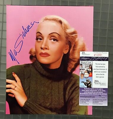 Marlene Dietrich Signed 8x10 Photo Photograph in Color Large Autographed JSA COA