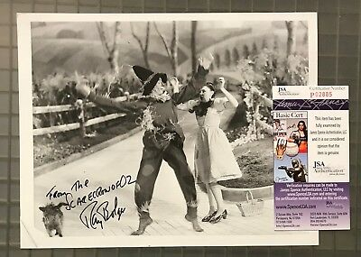 """Ray Bolger Signed & Inscribed 8x10 Vintage Photo """" The Wizard of Oz """" JSA COA"""