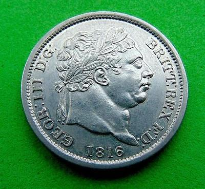 Cracking  Bu  Gem  1816  Full  Silver  Shilling  1/-.. Lucido_8  Coins