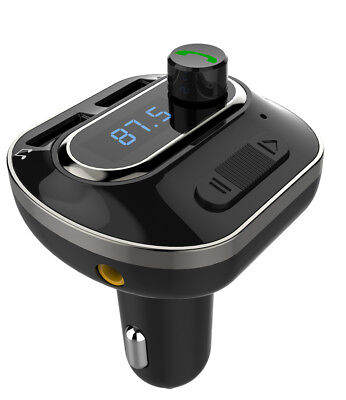 Bluetooth Handsfree Stereo FM Transmitter Car Charger for iPhone Samsung Galaxy