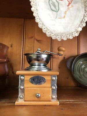Vintage Wooden Spice Or Coffee Grinder