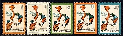 1977 VIETNAM UNIFICATION SG167-171 mint no gum as issued