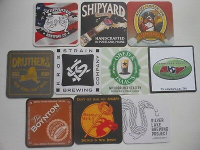 10 Craft Beer Coasters-Angry Erik,kross Strain,silver Lake,tennessee Valley