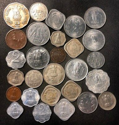 OLD India Coin Lot - 1923-PRESENT - 23 Excellent Coins - Lot #919