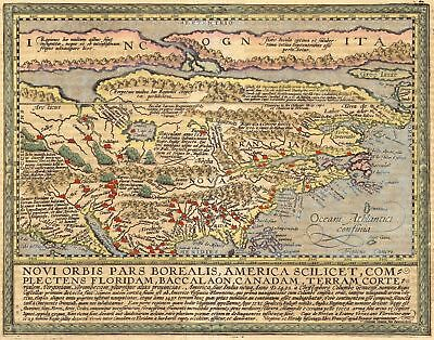 A4 Reprint of Old Maps Old Map Usa Canada Latin