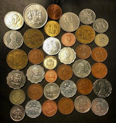 Old Jamaica Coin Lot - 1894-Present - 37 Great Coins - Lot #919