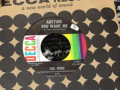 45 RPM The Who DECCA 31801 Anyway ANyhow Anywhere VG