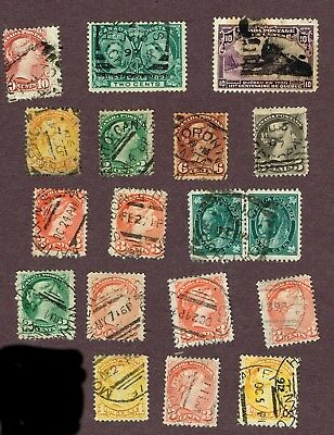 Canada Small Queens Etc Fine Square Circle Cancels  (July12,1