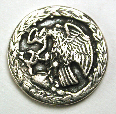 """BB Antique Sterling Button Eagle Grasping a Snake Design - 11/16"""""""