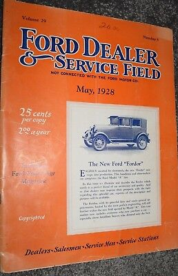 antique 1928 FORD DEALER & SERVICE magazine fordson fordor