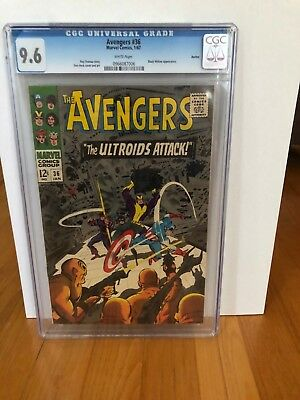 Avengers #36 Cgc 9.6 Nm+, Near Mint Plus, White Pages, No Reserve