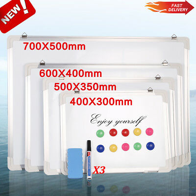 Magnetic Whiteboard Small Large Dry Wipe Drawing Board&Eraser Office School Home
