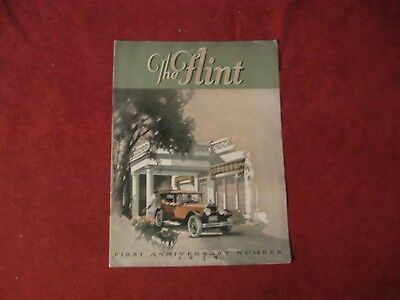 1924 Flint Showroom Brochure Catalog Old Original Vintage Booklet Book