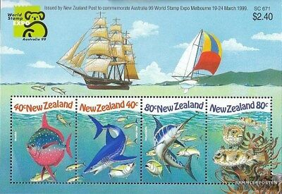 New Zealand Block90 Unmounted Mint Never Hinged 1999 Stamp E complete.issue.