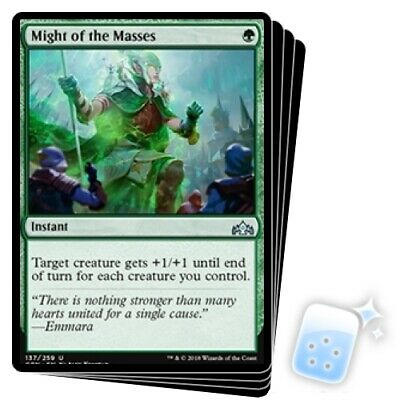 Might Of The Masses Guilds Of Ravnica Mtg Card Mint Condition