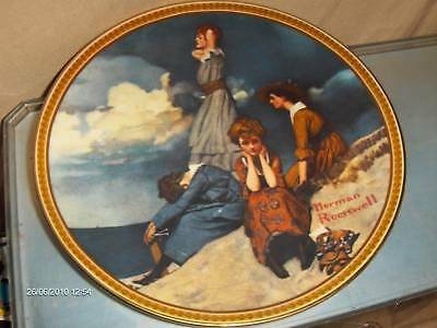 Waiting on the Shore Plate Rockwell Knowles