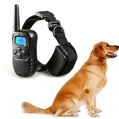 LCD 100LV Waterproof Rechargeable Dog Shock Collar Remote Pet Training Collar US