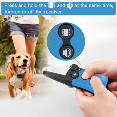 Pet Dog Waterproof Training Collar Rechargeable Electric Shock LCD Display Ipets