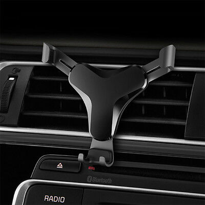Aluminum Car Air Vent Gravity Design Mount Holder Stand For Mobile Smart Phone W